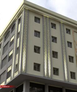 طراحی نمای ساختمان 4 طبقه