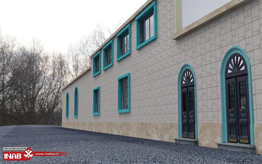 طراحی نمای مسجد با سنگ پرنس ایناب | سنگ نما