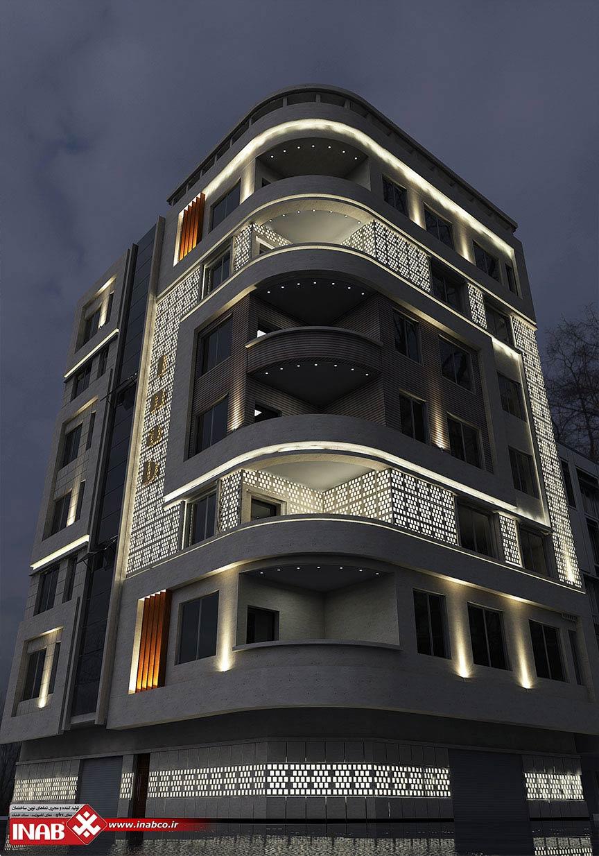 طراحی نمای ساختمان | جی اف ار سی GFRC | جی ار سی GRC