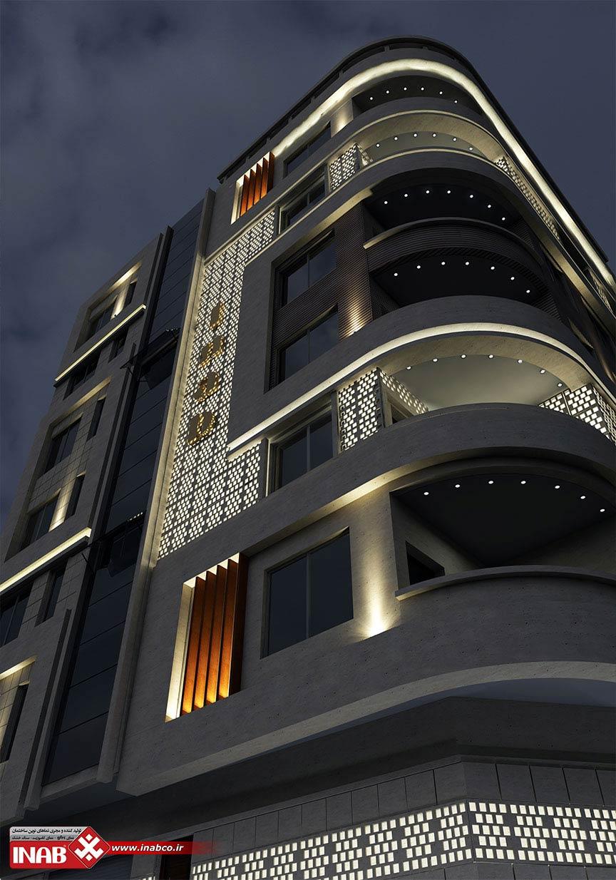 پنل های مشبک جی ار سی GRC در طراحی نمای ساختمان