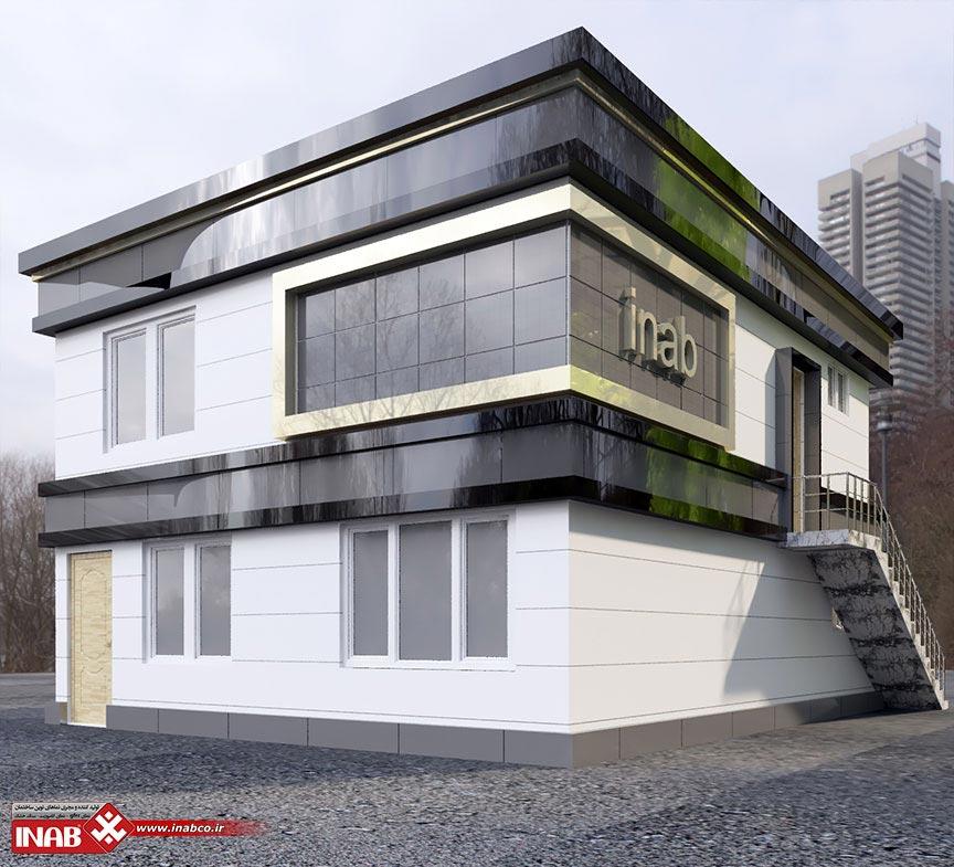 طراحی نمای ساختمان | بتن اکسپوز + کامپوزیت