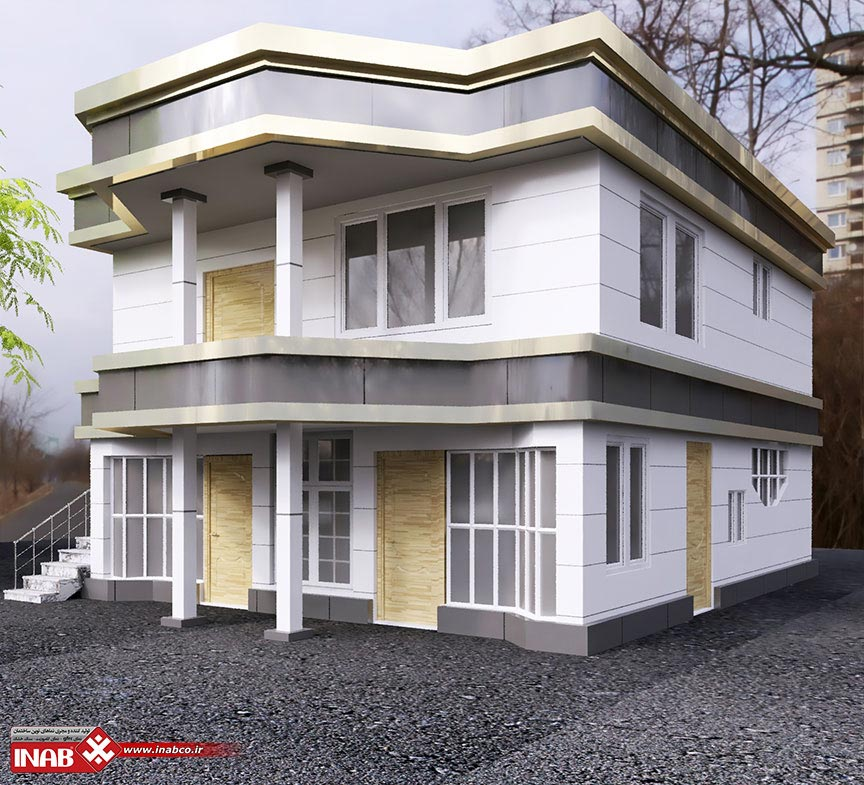 طراحی نمای ساختمان کامپوزیت