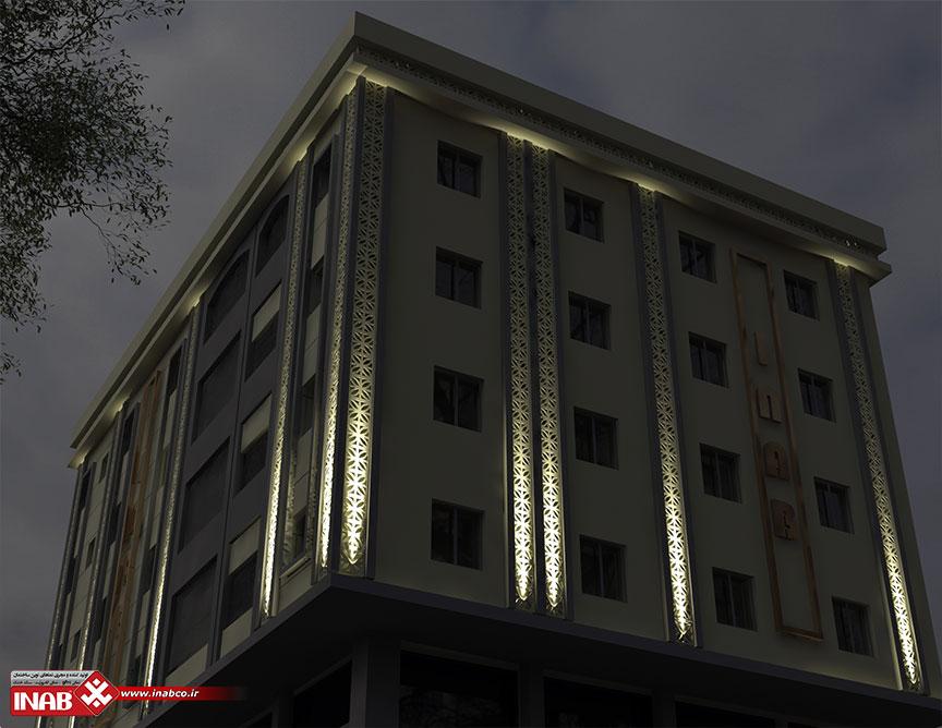 جی اف ار سی GFRC بدون محدودیت در نمای ساختمان