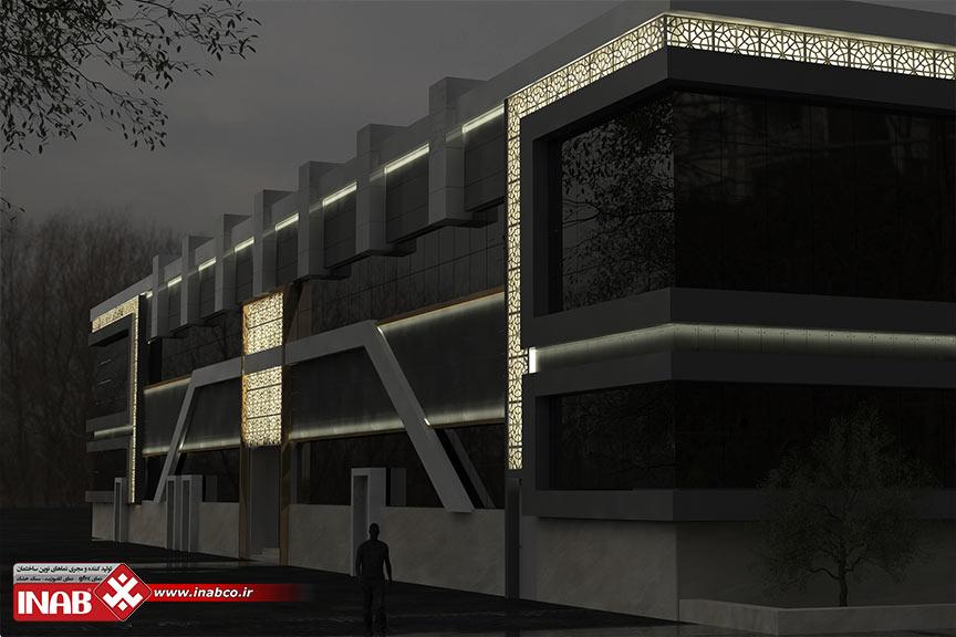 طراحی نمای ساختمان با ترکیب متریال های مختلف