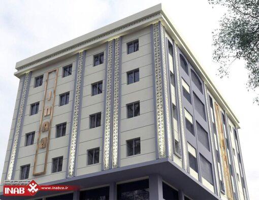 جی اف ار سی GFRC در طراحی نمای ساختمان مسکونی