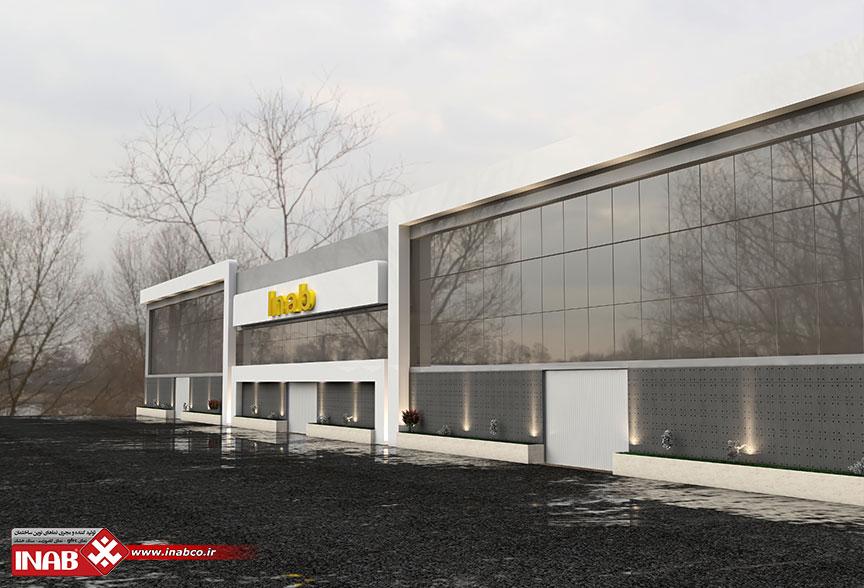 استفاده از بتن اکسپوز در طراحی نمای ساختمان تجاری