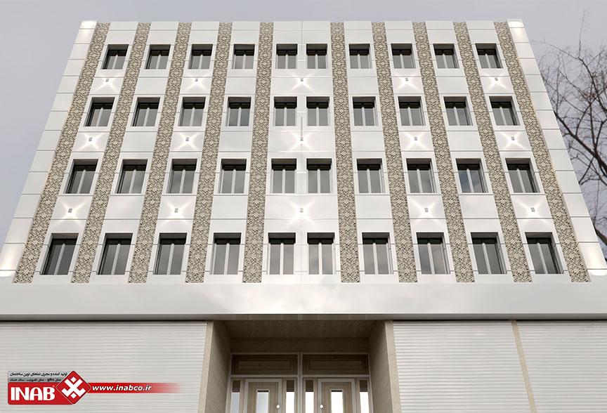 طراحی تخصصی نمای ساختمان   نمای ترکیبی کامپوزیت + gfrc
