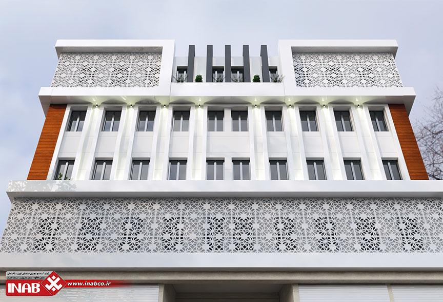 طراحی نمای ساختمان دو پوسته   جی اف ار سی + کامپوزیت
