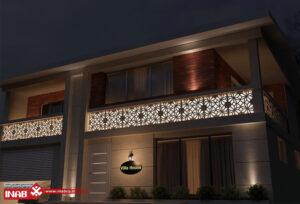 دیزاین نمای ساختمان ویلایی یک طبقه