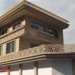طراحی نمای ساختمان ویلایی یک طبقه